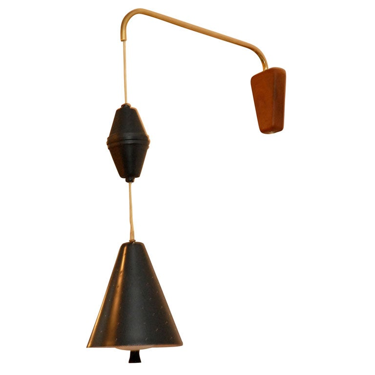 Wall Task Lamps : Pr. of of wall mount pull down task lamps at 1stdibs
