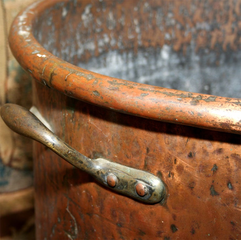overscale hand hammered two handled copper log bin at 1stdibs antique copper fireplace pot antique copper fireplace screens