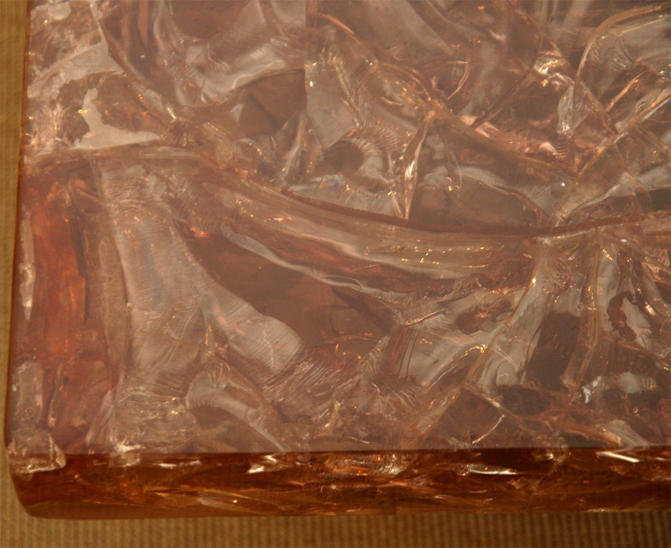 An Impressive Resin Coffee Table By Marie Claude De