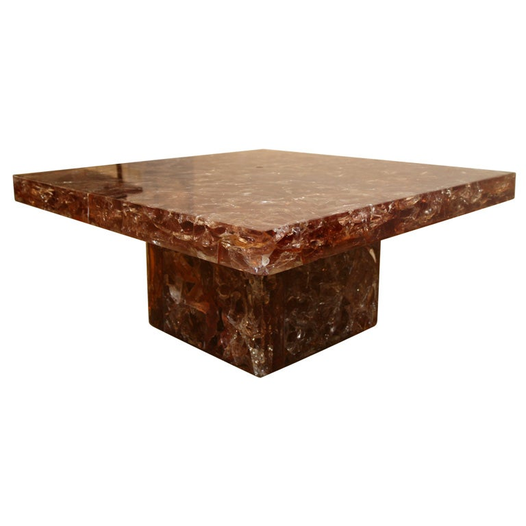 an impressive resin coffee table by marie