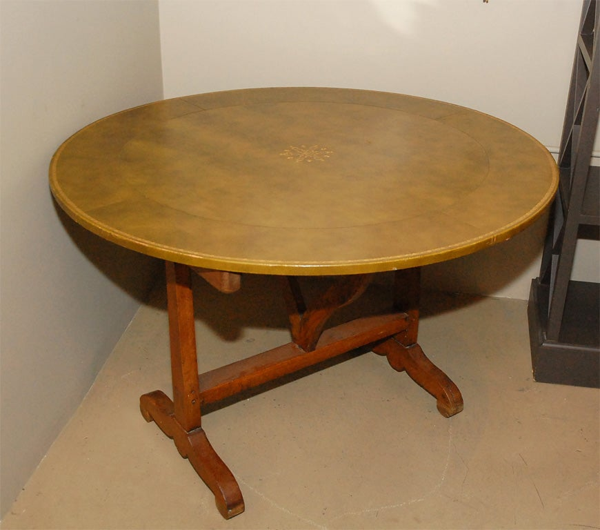 19th century french vendage flip top table at 1stdibs for Table th rotate