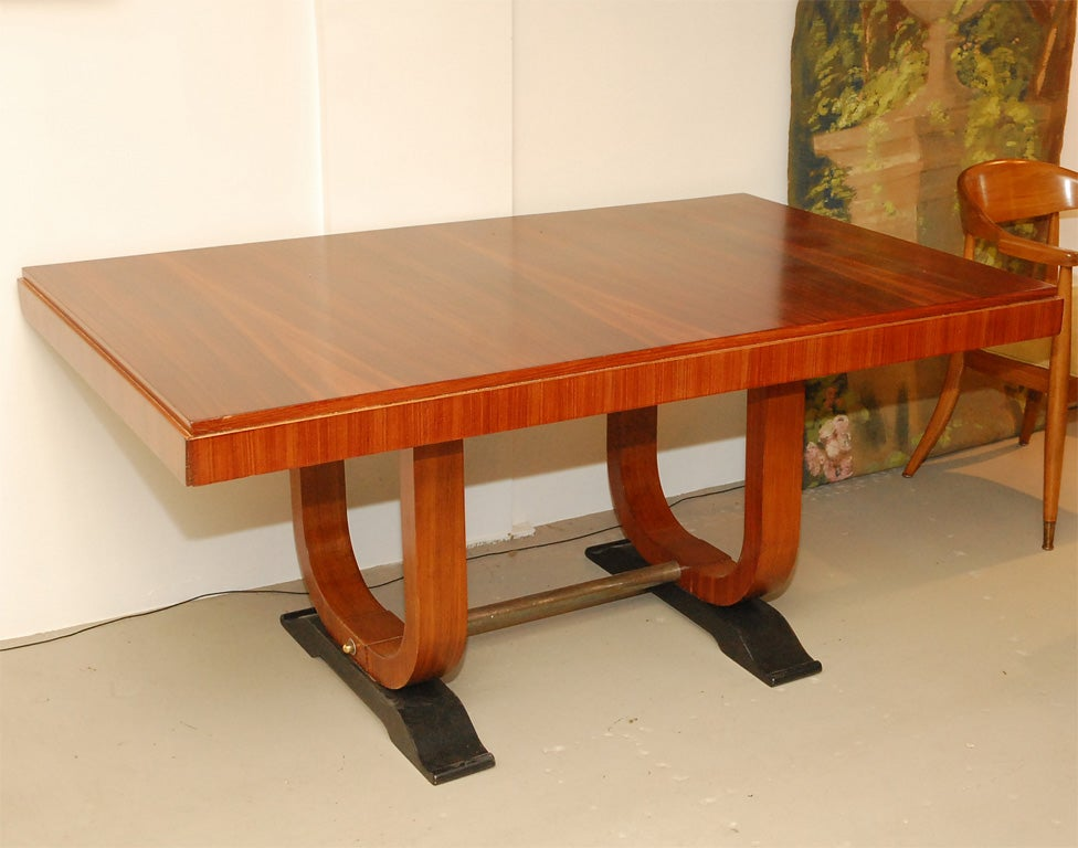 5 ft art deco italian mahogany dining table at 1stdibs for 5 foot dining room table