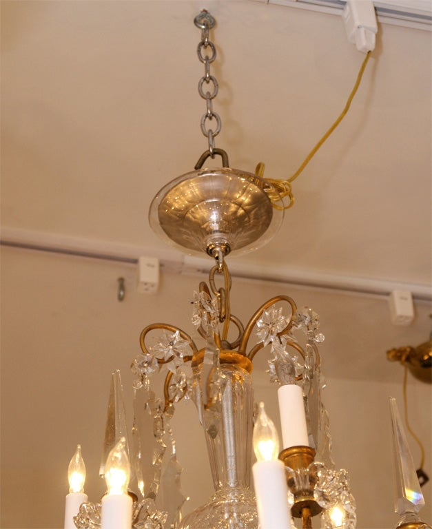 French Louis Xvi Chandelier With Baccarat Crystal At 1stdibs