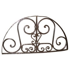 Hand Forged Iron Transom Grill