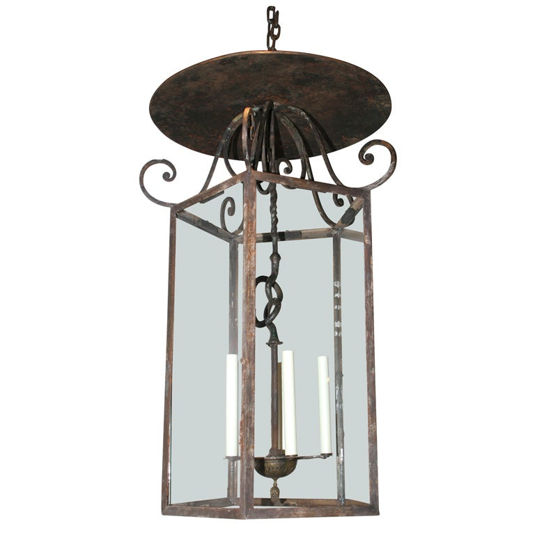 A French Provencial Wrought Iron Lantern At 1stdibs