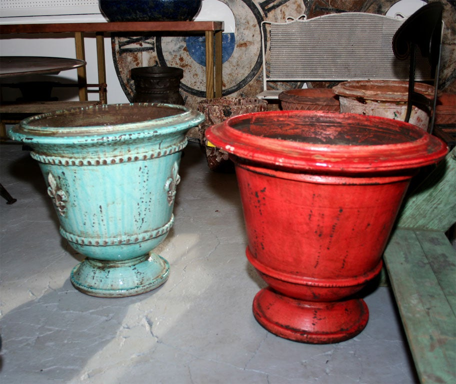 Artisan crafted in Provence, with brightly colored glaze, and beautiful details. Priced individually.