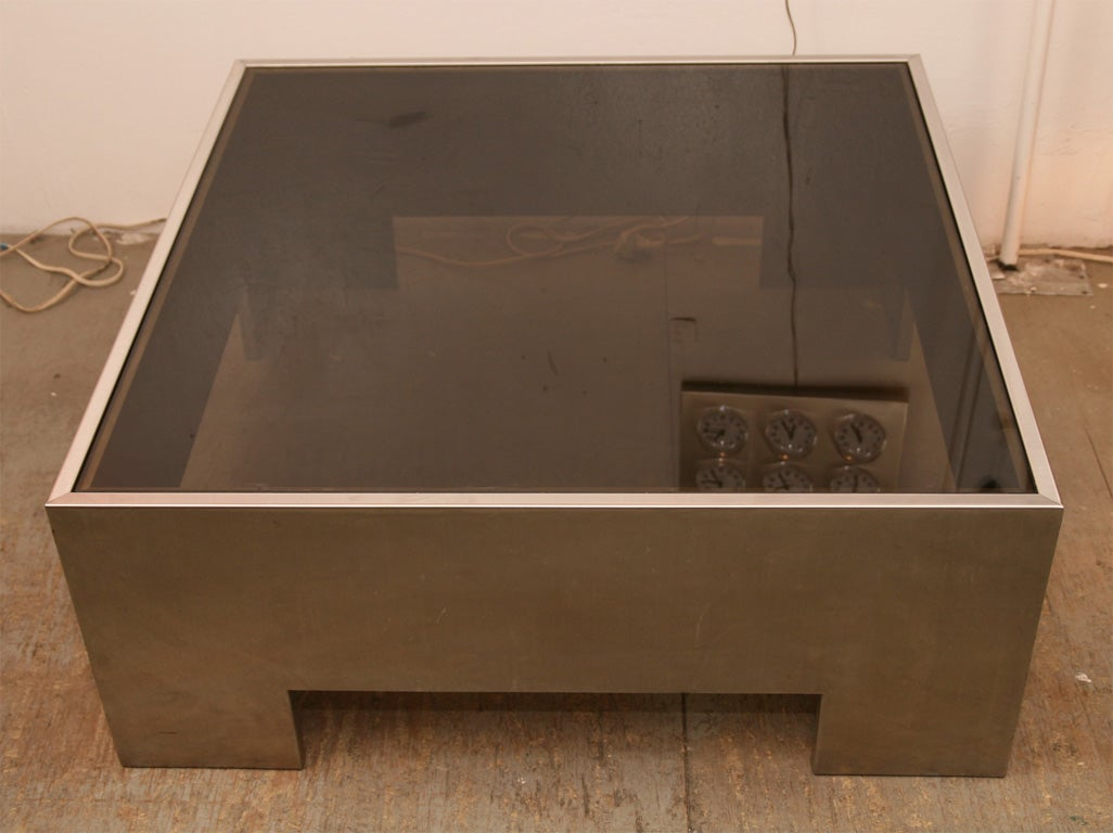 Stainless Steel Coffee Table At 1stdibs