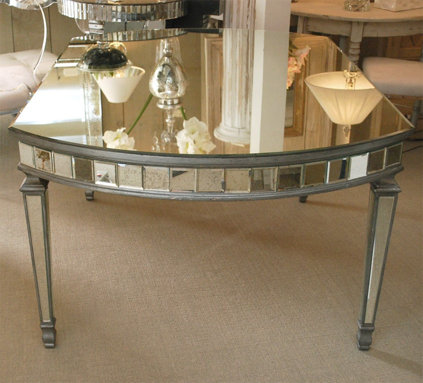 art deco oval mirrored dining table at 1stdibs