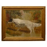 Oil Painting of sporting dog