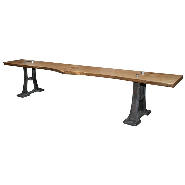 Contemporary Industrial Style Bench At 1stdibs