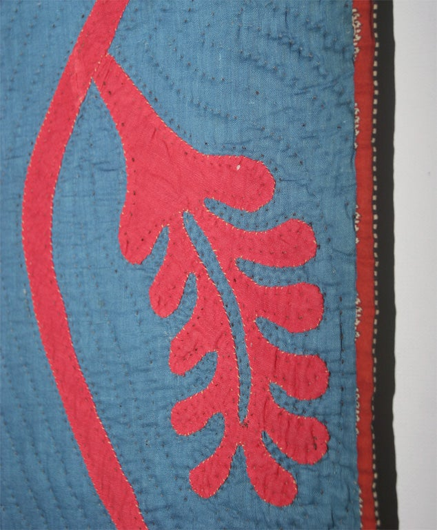 Antique Quilt:  Princess Feather Applique For Sale 1