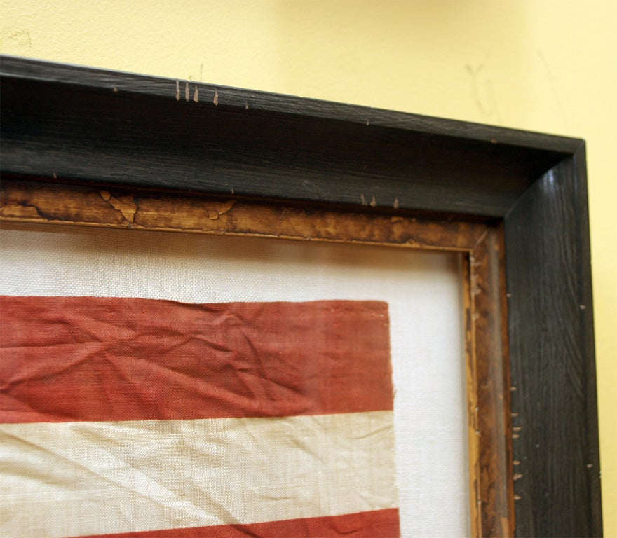 Pair of Framed Campaign Bandannas, Cleveland and Hendricks For Sale 1