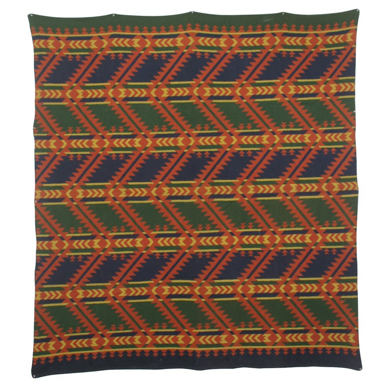 Arrowhead Motif Indian Camp Blanket For Sale