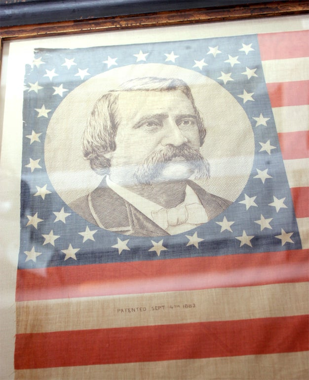 Pair of Framed Campaign Bandannas, Blaine and Logan In Excellent Condition For Sale In New York, NY