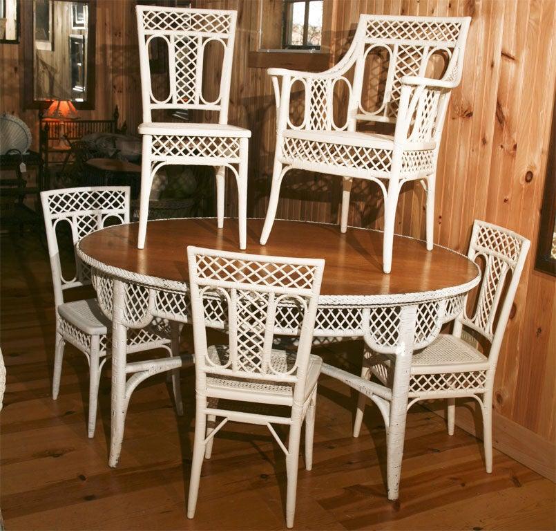 rare antique wicker dining set at 1stdibs