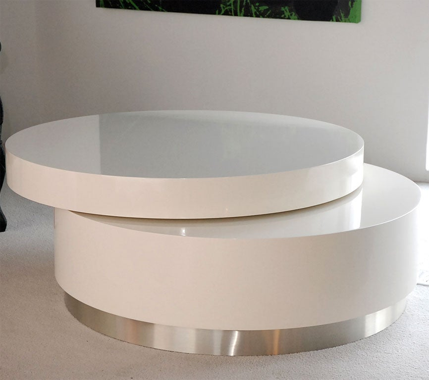 Coffee Table With Swivel: Swivel Coffee Table By Twentieth Modern At 1stdibs
