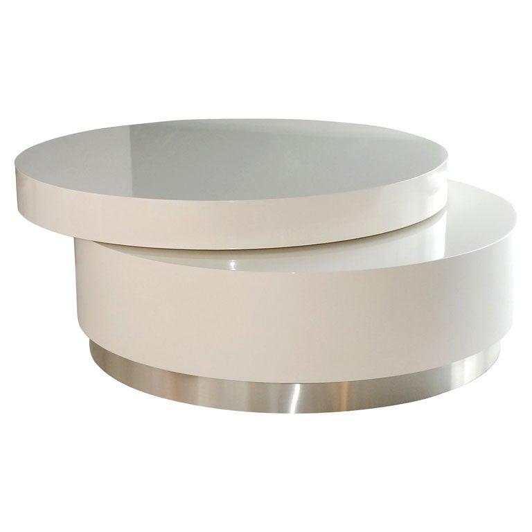 Swivel coffee table by twentieth studio at 1stdibs for Swivel coffee table