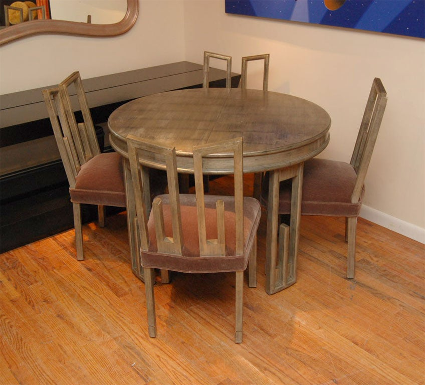 Wonderful james mont greek dining table and chairs at stdibs