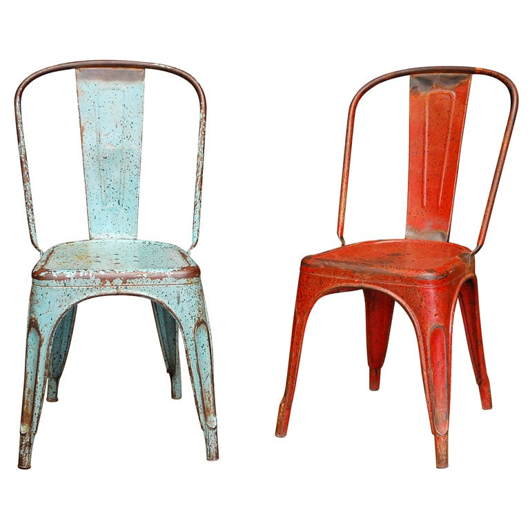 Tolix Chairs set of 2 at 1stdibs