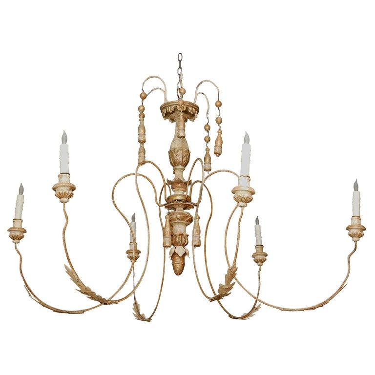 6 branch chandelier at 1stdibs. Black Bedroom Furniture Sets. Home Design Ideas