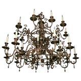 Large 32 light Dutch Baroque Chandelier