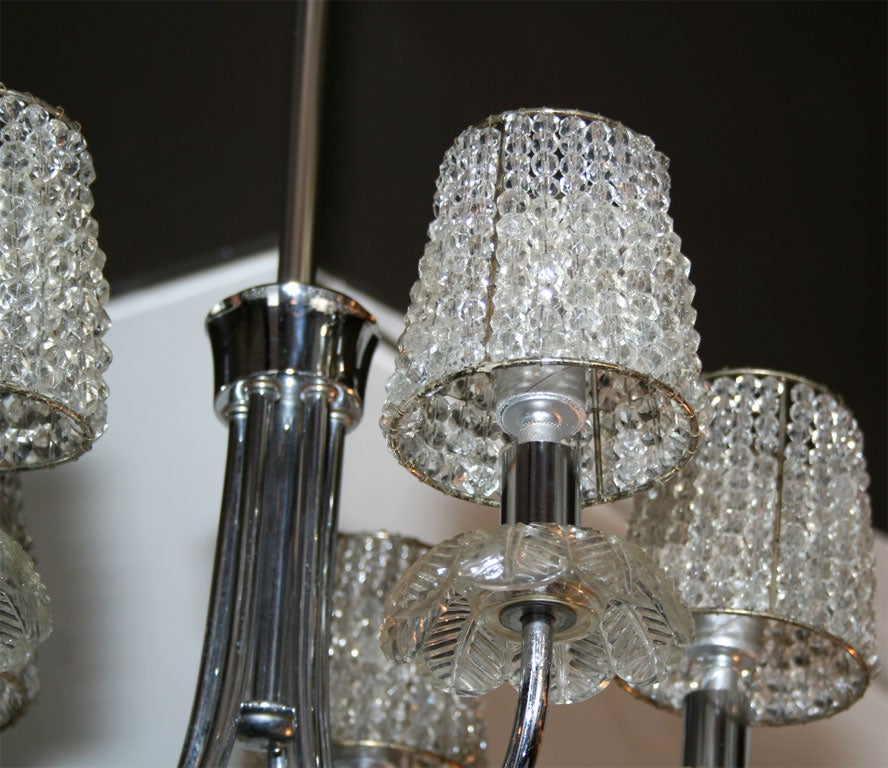 1940 39 s hollywood chandelier w crystal pendants and beaded