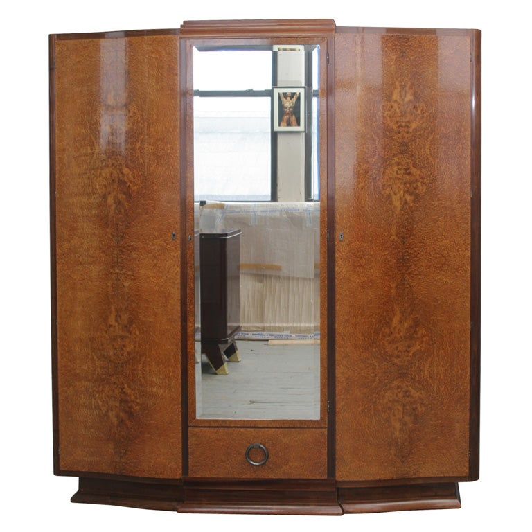 art deco armoire at 1stdibs. Black Bedroom Furniture Sets. Home Design Ideas