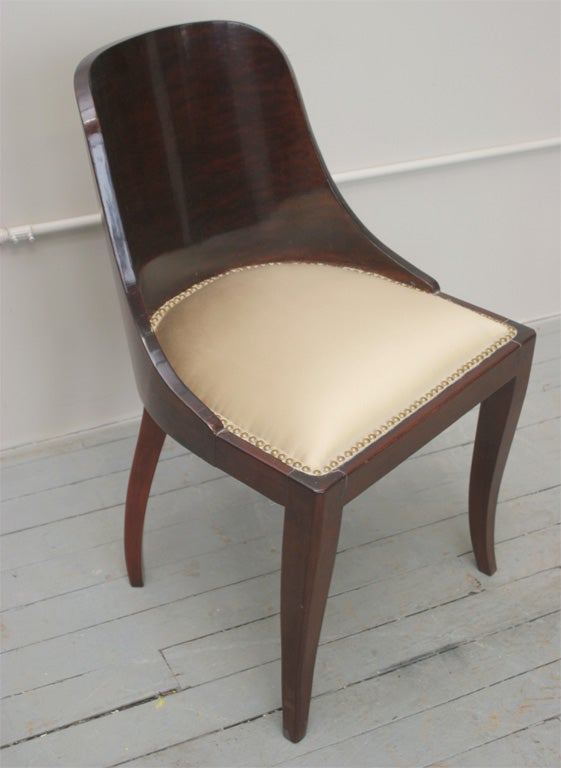 set of 6 art deco dining room chairs for sale at 1stdibs