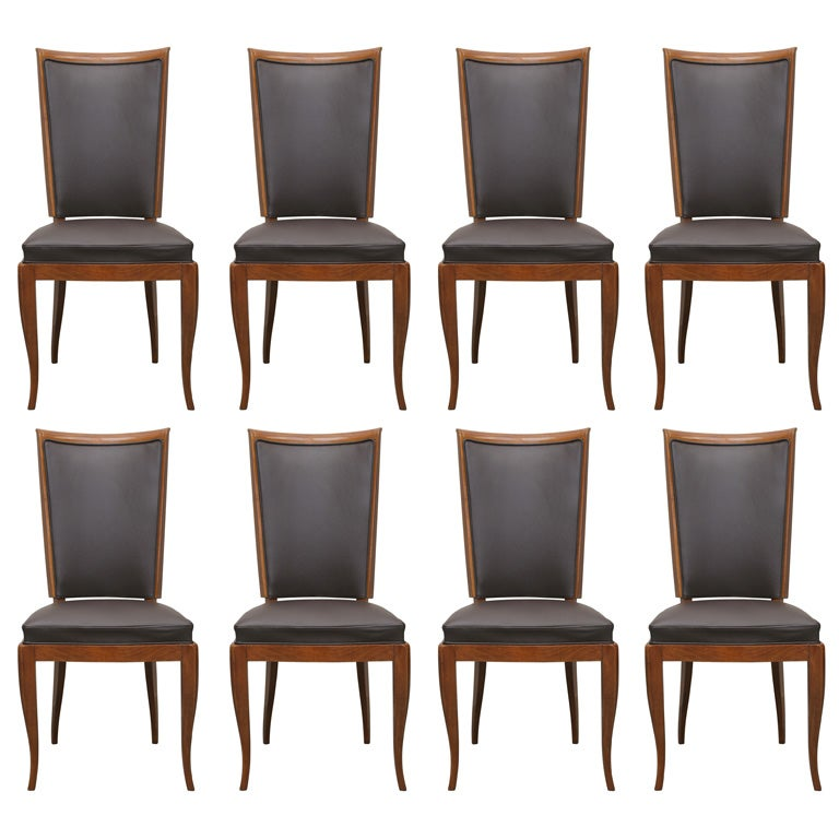 Art Deco Dining Room Chairs Suite Of 8 For Sale At 1stdibs