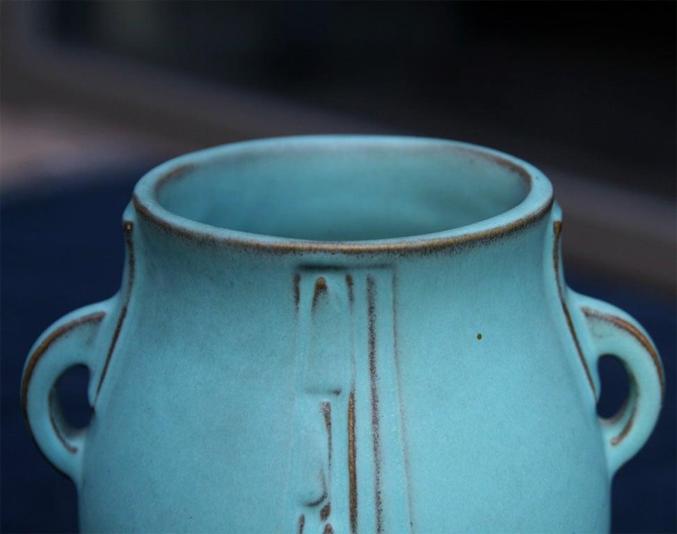 Pair Of Art Deco Ceramic Vases By Roseville At 1stdibs