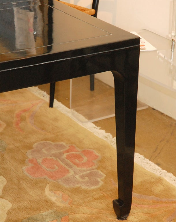 Vintage Baker Asian inspired black lacquered dining table  : DSC0523 from 1stdibs.com size 610 x 768 jpeg 68kB