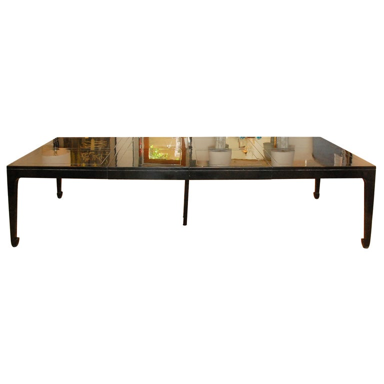 asian inspired black lacquered dining table is no longer available