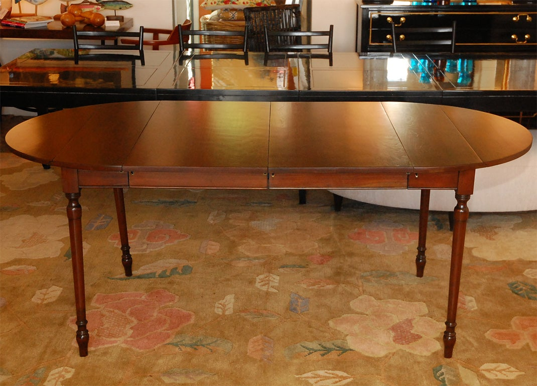 Cherry dining table by pennsylvania house and 8 dining for Cherry dining table