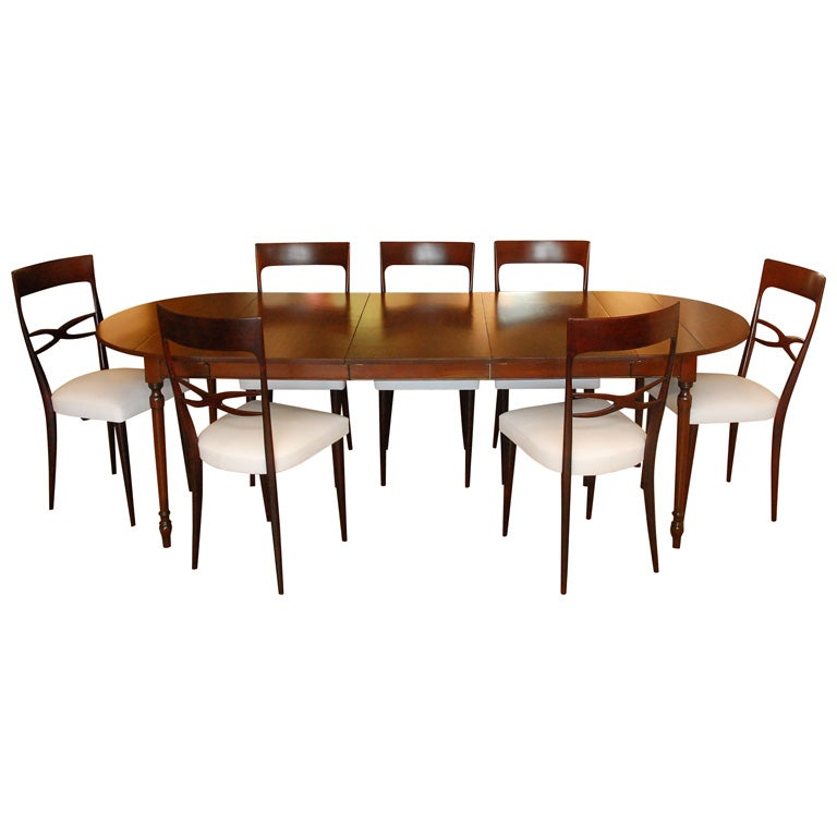 Cherry dining table by pennsylvania house and 8 dining for Cherry dining room chairs