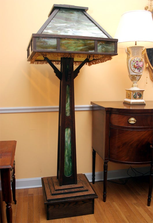 Arts And Crafts Large Floor Lamp At 1stdibs