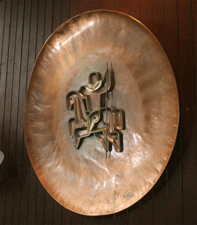 French Copper Plaque In Excellent Condition For Sale In Stamford, CT