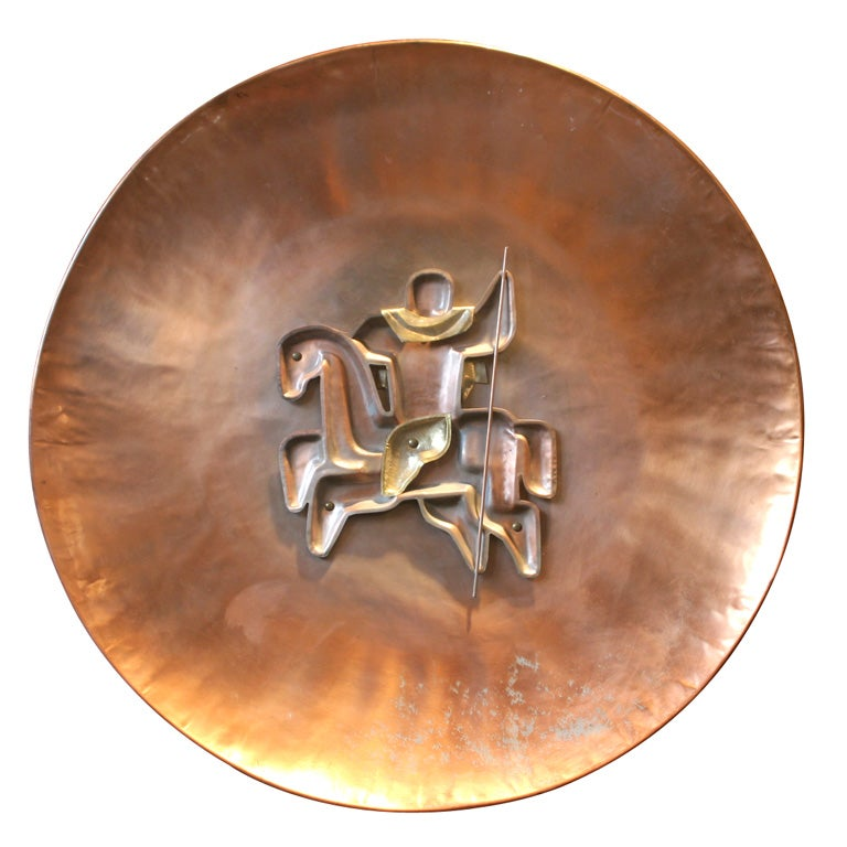 French Copper Horse Plaque