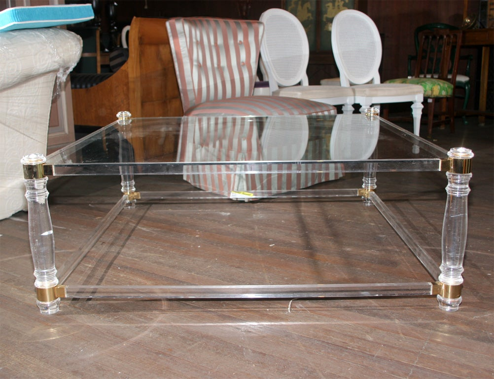 Square Lucite Coffee Table 2