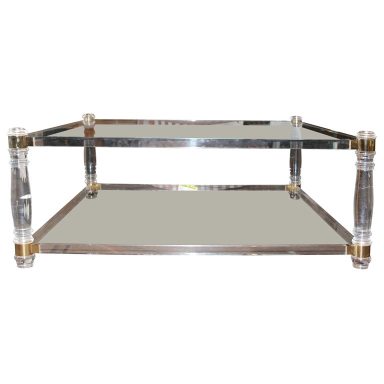 Square Lucite Coffee Table At 1stdibs