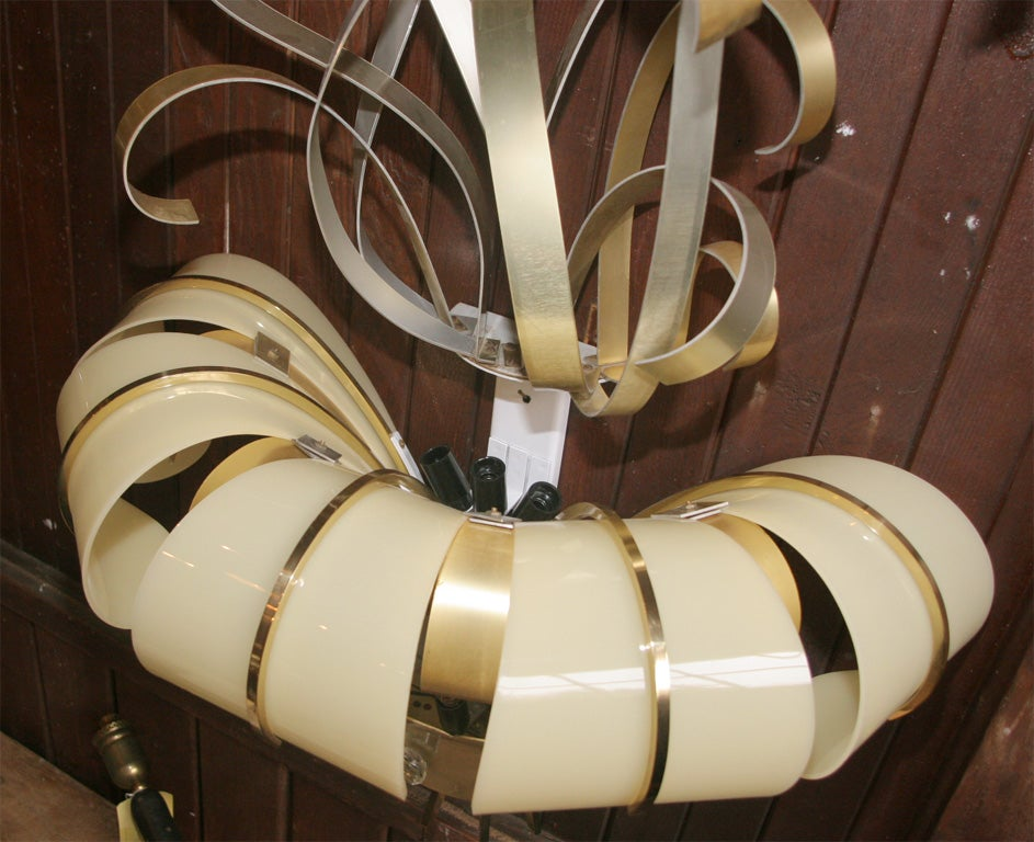 Pair of French Lucite and Metal Sconces For Sale 3