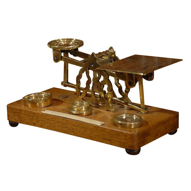19th Century Small French Postage Scale