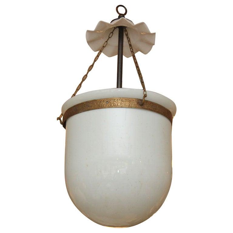 Antique Milk Glass Bell Jar Lanterns At 1stdibs