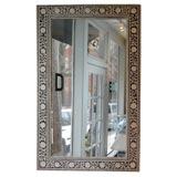 Inlaid bone framed mirror