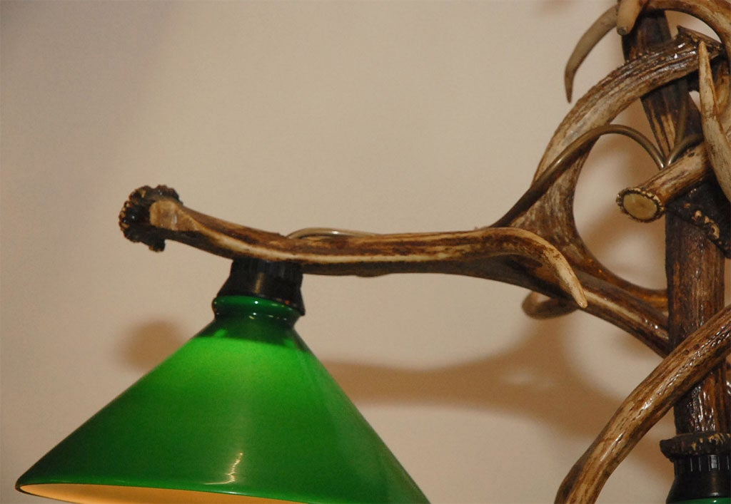 Deer Horn Three Light Chandelier At 1stdibs