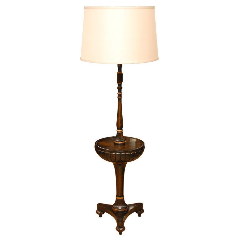 Black lacquered regency style floor lamp circa 1920 at for 1920 s wood floor lamp