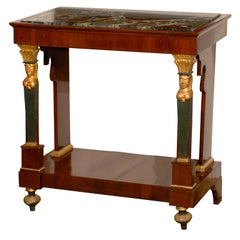 Petite Empire Console with Marble Top, France 19th century
