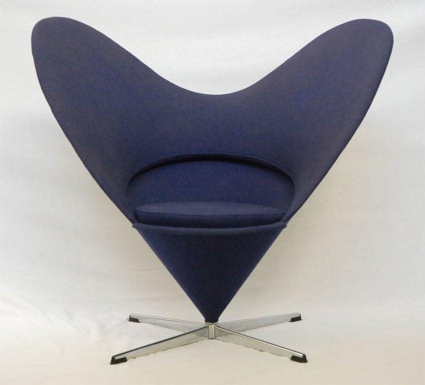verner panton heart chair for sale at 1stdibs. Black Bedroom Furniture Sets. Home Design Ideas