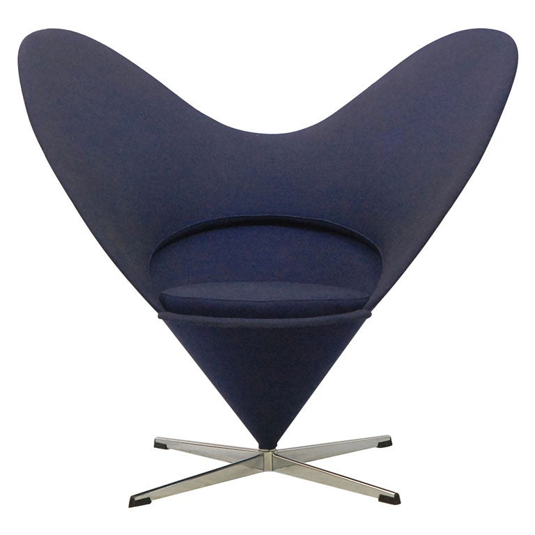 verner panton heart chair for sale at 1stdibs. Black Bedroom Furniture Sets. Home Design Ideas