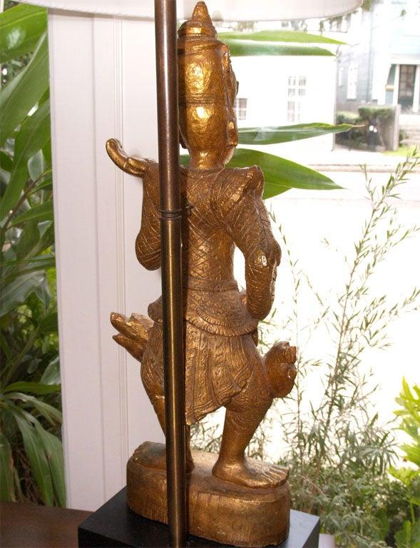 "Tall Gilt ""Thai"" Table Lamp 8"
