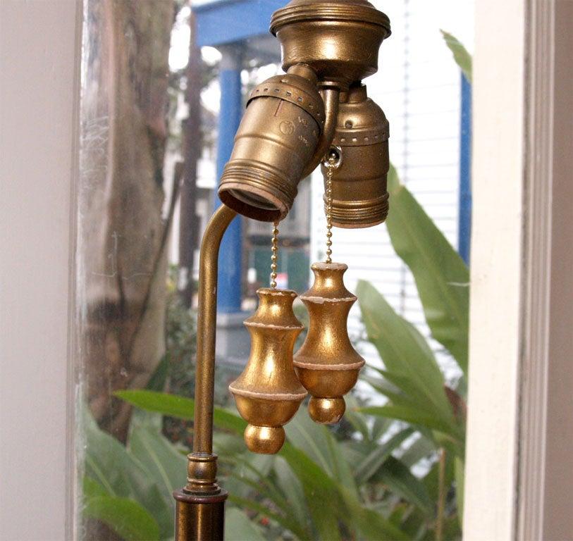 "Tall Gilt ""Thai"" Table Lamp 9"